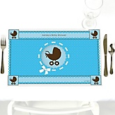 Boy Baby Carriage - Personalized Baby Shower Placemats