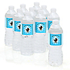 Boy Baby Carriage - Personalized Baby Shower Water Bottle Sticker Labels - Set of 10