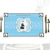 Silhouette Couples Baby Shower - It's A Boy - Personalized Baby Shower Placemats