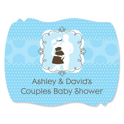 silhouette couples it s a boy baby shower theme