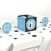Silhouette Couples Baby Shower - It's A Boy - Baby Shower Centerpiece & Table Decoration Kit