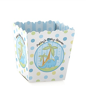 Baby Boy Dinosaur - Party Mini Favor Boxes - Personalized Baby Shower Treat Candy Boxes - Set of 12