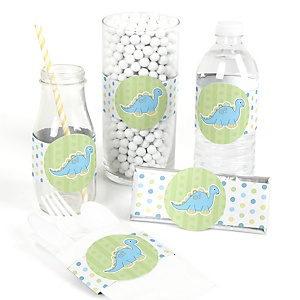 Baby Boy Dinosaur - DIY Party Wrappers - 15 ct