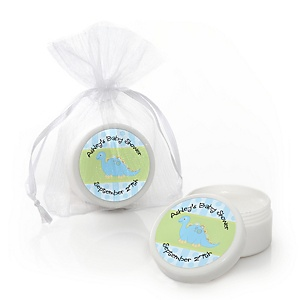 Baby Boy Dinosaur - Personalized Baby Shower Lip Balm Favors - Set of 12