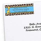 Giraffe Boy - Personalized Baby Shower Return Address Labels - 30 ct