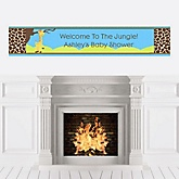 Giraffe Boy - Personalized Baby Shower Banners