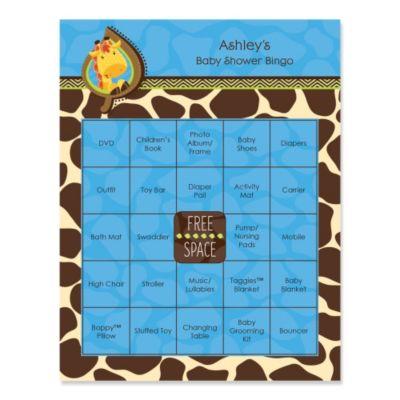 Giraffe Boy   Bingo Personalized Baby Shower Games   16 Count