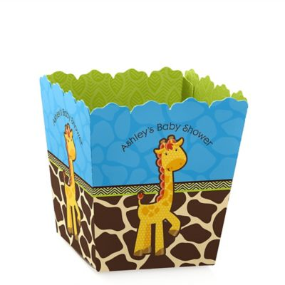 Giraffe Boy   Personalized Baby Shower Candy Boxes