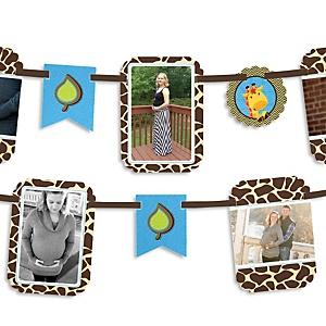 Giraffe Boy - Baby Shower Photo Garland Banners