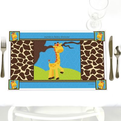 Giraffe Boy   Personalized Baby Shower Placemats