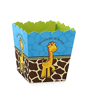 Giraffe Boy - Party Mini Favor Boxes - Personalized Birthday Party Treat Candy Boxes - Set of 12