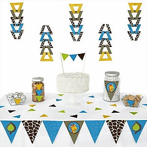 Giraffe Boy -  Triangle Party Decoration Kit - 72 Piece