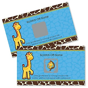 Giraffe Boy - Baby Shower Game Scratch Off Cards - 22 ct