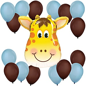 Boy Jolly Giraffe - Baby Shower Balloon Kit