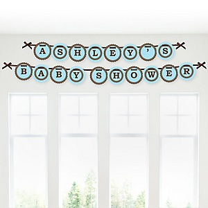 Mommy-To-Be Silhouette – It's A Boy - Personalized Baby Shower Garland Letter Banners