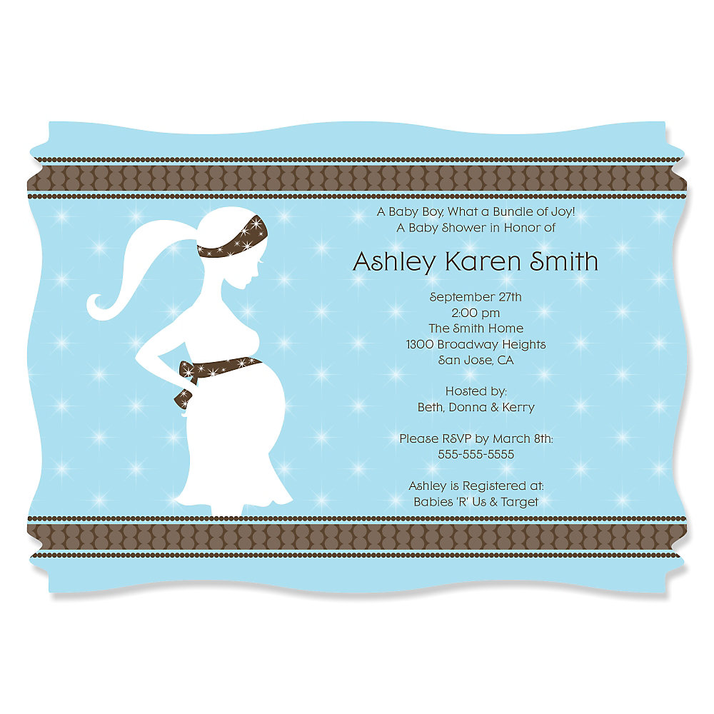 Mommy-To-Be Silhouette – It\'s A Boy - Personalized Baby Shower ...