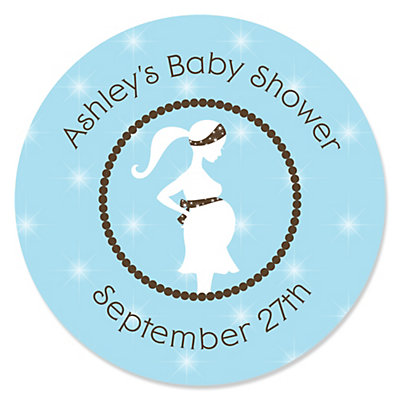 Mommy To Be Silhouette U2013 Itu0027s A Boy   Personalized Baby Shower Sticker  Labels   24 Ct