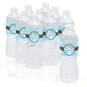 Mommy-To-Be Silhouette – It's A Boy - Personalized Baby Shower Water Bottle Sticker Labels - Set of 10