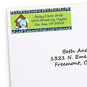 Boy Puppy Dog - Personalized Baby Shower Return Address Labels - 30 ct
