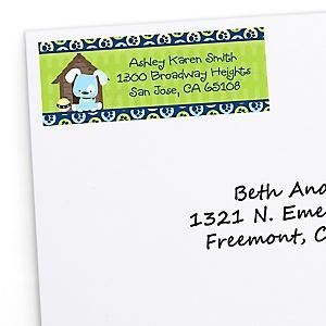 Boy Puppy Dog - Personalized Baby Shower Return Address Labels - 30 ct
