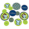 Boy Puppy Dog - Personalized Baby Shower Table Confetti - 27 ct