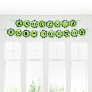 Boy Puppy Dog - Personalized Baby Shower Garland Letter Banners