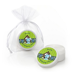 Boy Puppy Dog - Personalized Birthday Party Lip Balm Favors - Set of 12