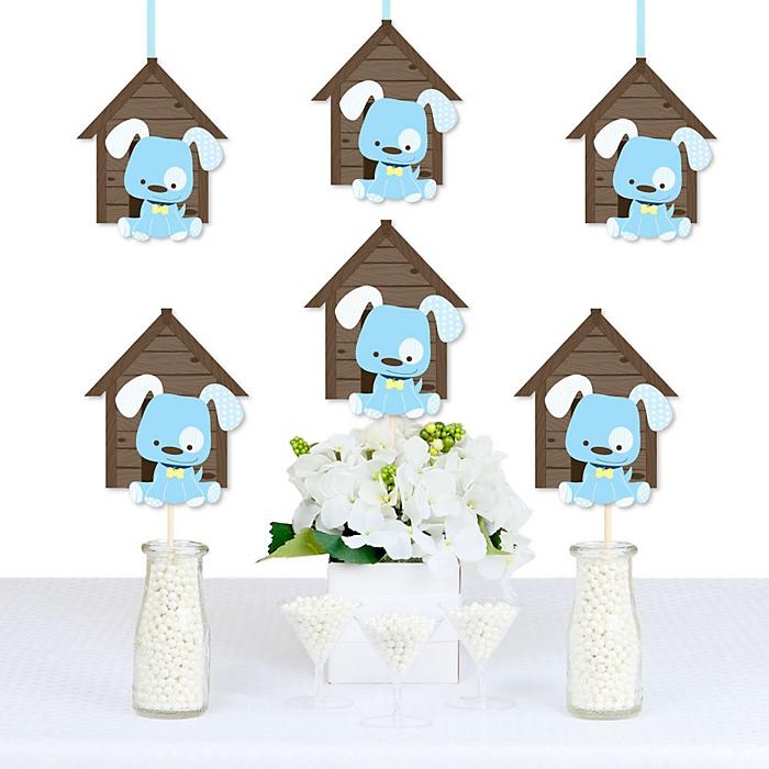 Boy Puppy Dog - Dog House Decorations DIY Baby Shower or Birthday Party Essentials - Set of 20
