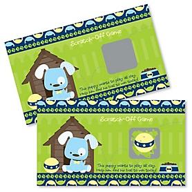 Boy Puppy Dog - Baby Shower Game Scratch Off Cards - 22 ct