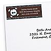 Skullitude™ - Baby Boy Skull - Personalized Baby Shower Return Address Labels - 30 ct