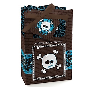 Skullitude™ - Baby Boy Skull - Personalized Baby Shower Favor Boxes