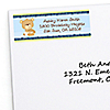 Baby Boy Teddy Bear - Personalized Baby Shower Return Address Labels - 30 ct