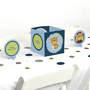 Baby Boy Teddy Bear - Baby Shower Centerpiece & Table Decoration Kit