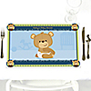 Baby Boy Teddy Bear - Personalized Baby Shower Placemats