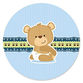 Baby Boy Teddy Bear - Baby Shower Theme
