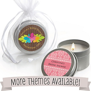 Bridal Shower Personalized Candle Tins