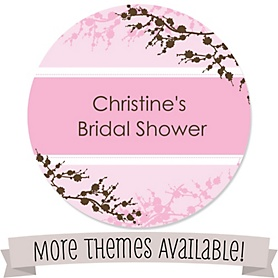 Bridal Shower Personalized Round Sticker Labels