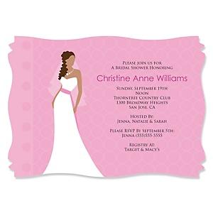 Custom bride pink bridal shower theme bigdotofhappiness custom bride pink personalized bridal shower invitations filmwisefo Images