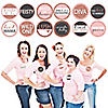 Bride Squad - Rose Gold Bridal Shower or Bachelorette Party Funny Name Tags - Party Badges Sticker Set of 12