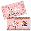 Bride Squad - Personalized Rose Gold Bridal Shower or Bachelorette Party Game Scratch Off Dare Cards - 22 Count