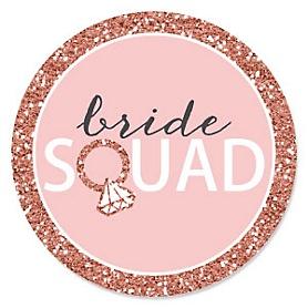 Bride Squad - Rose Gold Bridal Shower or Bachelorette Party Theme