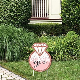 Bride Squad - Outdoor Lawn Sign - Rose Gold Bridal Shower or Bachelorette Party Yard Sign - 1 Piece