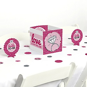 Bride-To-Be - Bridal Shower or Classy Bachelorette Party Centerpiece and Table Decoration Kit