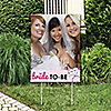 Bride-To-Be - Photo Yard Sign - Bridal Shower or Classy Bachelorette Party Decorations