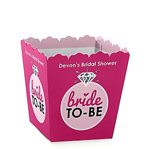 Bride-To-Be - Party Mini Favor Boxes - Personalized Bridal Shower or Classy Bachelorette Party Treat Candy Boxes - Set of 12