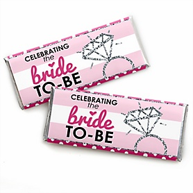 Bride-To-Be -  Candy Bar Wrappers Bridal Shower or Classy Bachelorette Party Favors - Set of 24
