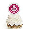 Bride-To-Be - Personalized Bridal Shower or Classy Bachelorette Party Cupcake Picks and Sticker Kit - 12 ct