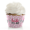 Bride-To-Be - Bridal Shower or Classy Bachelorette Party Decorations - Party Cupcake Wrappers - Set of 12