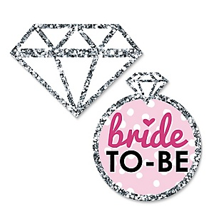 Bride-To-Be - DIY Shaped Bridal Shower or Classy Bachelorette Party Paper Cut-Outs - 24 ct