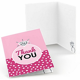 Bride-To-Be - Bridal Shower or Classy Bachelorette Party Thank You Cards - 8 ct